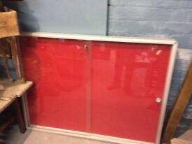 Large lockable notice board