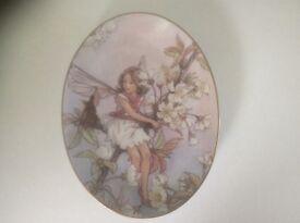 Flower Fairies The Wild Cherry Blossom Fairy oval plate