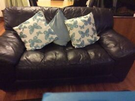 Italian Leather 2-Seater Sofa