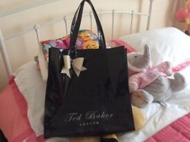 Ted Baker black patent bag