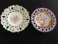 2 Decorative Wall Plates
