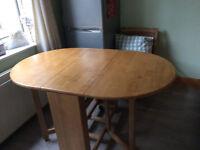 Oak Drop Leaf Table 1400mm x 870 when fully opened
