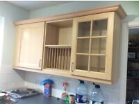 kitchen wall units beech coloured