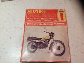 Suzuki trail bike workshop manual