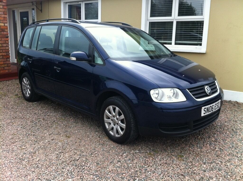 2006 volkswagen touran 1 9 tdi mot d to may 2017 7 seater in antrim county antrim. Black Bedroom Furniture Sets. Home Design Ideas