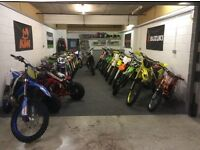 Affordable mx bikes & quads manselton Swansea new open