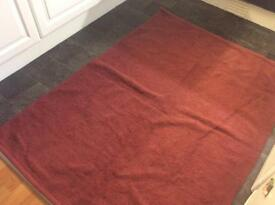 Large mulberry natural rug
