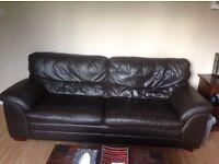Free 2 leather sofas 1 armchair