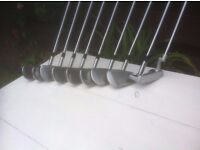 Complete Set of Gents Wilson RX Irons and Woods WIth Covers and Bag Included