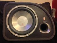 FLI subwoofer amp built in 1000 watts very loud and deep bass fit in golf Audi BMW Toyota