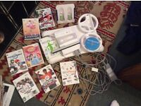 WII BUNDLE: Nintendo Wii + 9 Games + More