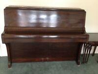 Mornington & Weston Upright Acoustic Mahogany Piano.
