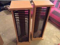 Pine coloured cd racks