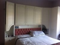 Bedroom furniture - bed & wardrobe & chest of drawers