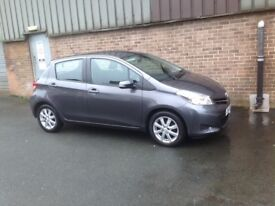 2013 Toyota yaris 1.3 6 speed 5 door grey only 21k miles vw polo corsa ibiza aygo cheap bargain golf