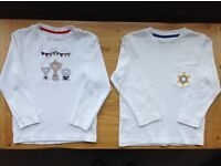 THE LITTLE WHITE COMPANY LONDON - BOYS TOPS AGE 3-4 ***IMMACULATE CONDITION***