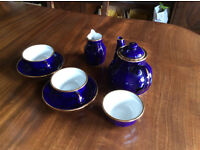 A BEAUTIFUL TEA SERVICE FOR TWO BY DELAUNAY OF FRANCE