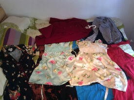 Assorted women's vintage and new dresses (size UK 10-12)