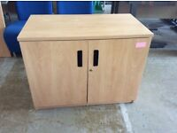 Beech Two Door Storage Cupboard