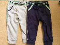 Boys Mothercare jogging bottoms X 2 size 12-18 months