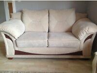 Sofa 3 seat + 2 seat sofa, + chair & footstool