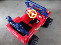 Kids electric powered ride on jeep