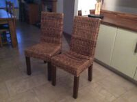 2no. wicker chairs