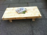 super chunky coffee table solid heavy reclaimed wood shabby chic rustic look