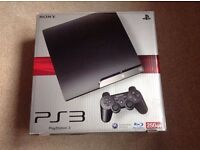 As NEW! Sony Playstation 3 Slim, 250 GB, 2 Wireless Controllers & Games.