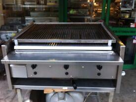 ARCHWAY 3 BURNER GAS CHARCOAL BBQ KEBAB LAVA STONE GRILL FAST FOOD RESTAURANT KITCHEN BAR SHOP