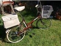 Retro 1970s Raleigh Twenty Shopper All Completely Original