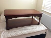 Solid wood side / coffee table excellent condition ( purchased from Hopewells)