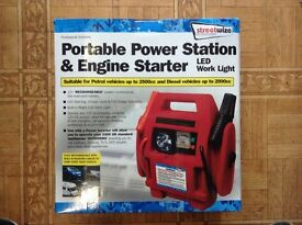 PORTABLE POWER STATION AND ENGINE STARTER