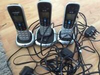 BT triple handset cordless phones