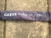 A Greys Prodigy Carp rod - 12ft 2.75lbs t/c - carp fishing