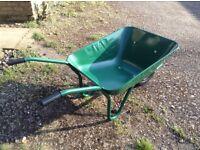 BNWT wheelbarrow. The Walsall Wheelbarrow Company brand. Green. Metal.