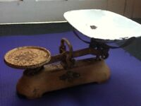 Antique Set of Utilitarian Scales Kitchen Ware Decor