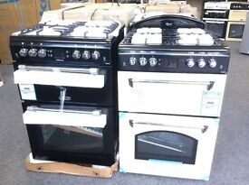 Leisure cooker new 12 mths gtee 60cm wide, double oven