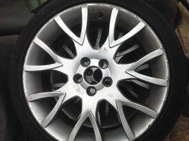 """Volvo medusa 18"""" 5 stud alloy wheels and tyres s40 v50 v60 xc60"""