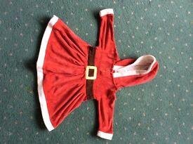 Baby girl Santa dress 6-9 months
