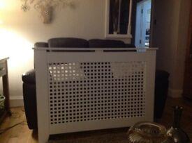 White radiator cover modern good condition