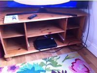 Solid TV wooden Stand - excellent condition