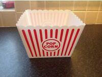 Large popcorn bowl