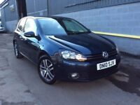 2010 Volkswagen Golf Se Bluemotion 1.6Tdi 105bhp FSH FINANCE AVAILABLE E