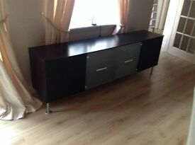 Bo Concept sideboard £50, Display cabinet in limed oak £50
