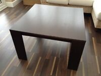 Square wooden coffee table - 80 by 80 cm