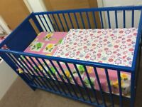 Baby cot for sale- Blue colour