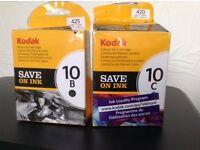 Kodak Ink cartridges - 10B & 10C. Opened but unused