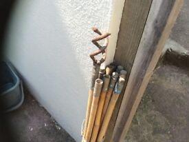 Bamboo drain rods