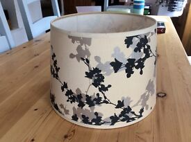 Laura Ashley table lamp shades cream, black and sliver